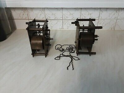 Two Fusee Clock Movements 1 Complete 1 Parts Missing 1 Chain 1 Hook Missing