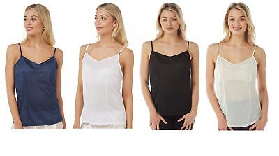 Womens Ladies Cami Sleeveless Swing Vest Top Strappy