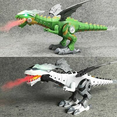 Walking Dragon Toy Fire Breathing Water Spray Dinosaur Christmas Gift N6P4B