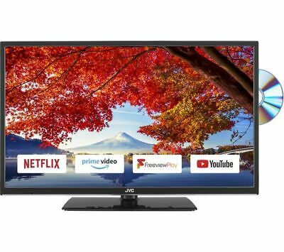 "JVC LT-24C695 24"" Smart HD Ready (720p) LED TV with Built-in DVD Player"