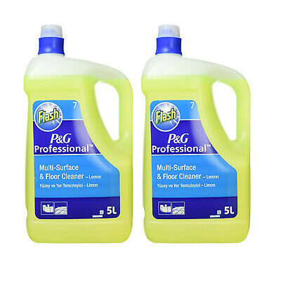 2 X Flash Lemon All Purpose Cleaner 5 Litre Professional