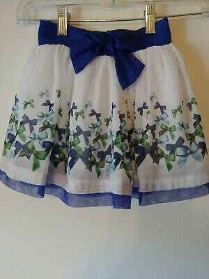 Disney Girls Navy, White, Chiffon Bows, Skort, Size 6, # 940