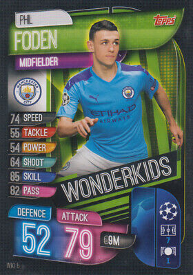 Topps Match Attax Champions League 19 20 2019 2020 WKI5  Phil Foden Wonderkids