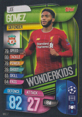 Topps Match Attax Champions League 19 20 2019 2020 WKI7  Joe Gomez Wonderkids