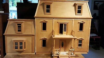HOFCO FEDERAL VICTORIAN FRONT-OPENING DOLLHOUSE KW-174,Unfinished w/ 2 Wings