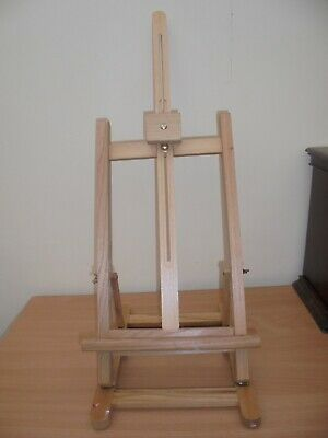 Wooden folding table top easel for painting display, wedding, menu, seating plan