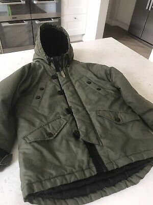 Kids Winter Coat 5-6 Years Green Boys Quality M&S Rrp£38 Lovely & Warm