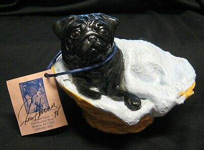 "Ron Hevener Black ""Pug In A Blanket"" Limited Edition 1998- 054/1000 Signed- Mint"