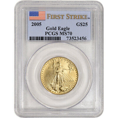 2005 American Gold Eagle 1/2 oz $25 - PCGS MS70 - First Strike