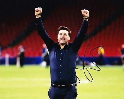 Mauricio Pochettino Signed 10X8 PHOTO SPURS Tottenham Hotspur AFTAL COA (1141)