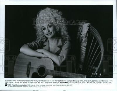 """1987 Press Photo Dolly Parton in """"The Dolly Show"""" - cvp39708"""