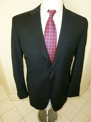 RECENT Canali Suit 40L NAVY Wool 34Wx31 Dual Vent ITALY Flat Front Pants STAPLE
