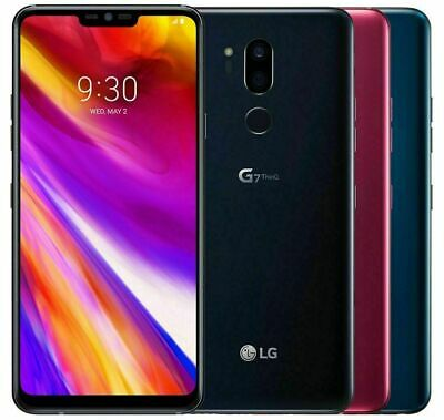 "LG G7 ThinQ G710 ""Factory Unlocked"" 64GB Platinum Grey/Red MFR"