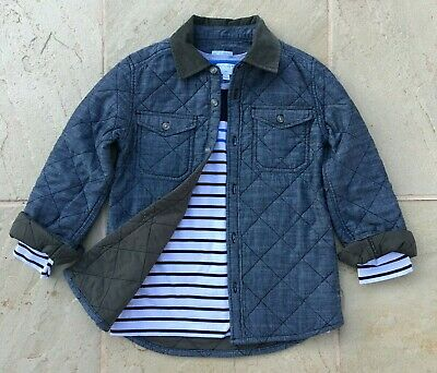 Witchery Boys Size 7 Quilted Warm Jacket Excellent As New Condition.