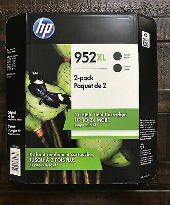 Brand New 2-PACK HP Genuine 952XL Black Ink - EXP January 2021 Or Later