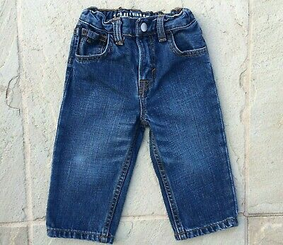 Quicksilver Boys Sz, 12 Months Denim Straight Jeans, Adjust  Waist Excellent Con