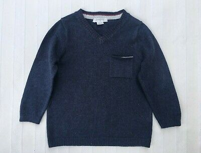 Pure Baby, Boys Size 1, Dark Blue, Knit Jumper In Excellent Condition.