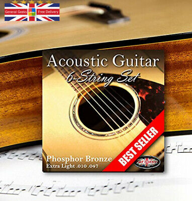 Adagio Professional Acoustic Guitar Strings Full Set/Pack - Gauge 10-47...
