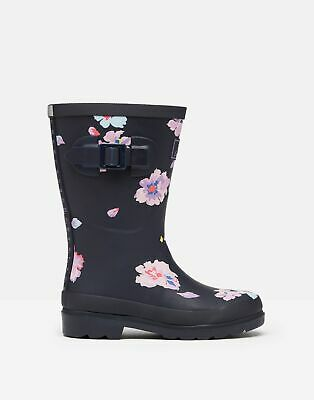 Joules 209693 Printed Wellie Boots - NAVY FLORAL