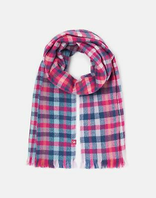 Joules  209759 Woven Check Scarf in PINK CHECK