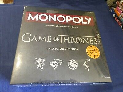 Monopoly Game of Thrones Collectors Edition Board Game - New - Sealed