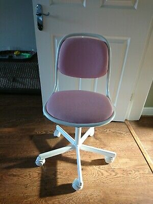 Fabulous Ikea Child Swivel Study Desk Chair In White Pink With Lift Gmtry Best Dining Table And Chair Ideas Images Gmtryco