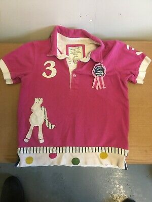 Joules Horse🐴 1st Prize Pony Club Short Sleeve Girls T Shirt Age 7(Box P)