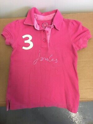 Joules  No 3 Short Sleeve Girls T Shirt Age 7 (Box P)
