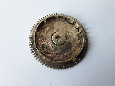 LONGCASE CLOCK REAR COUNTWHEEL 72 TEETH 30HR BRASS 19th CENTURY