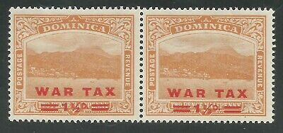 Dominica sg 59/59a short fraction bar in mounted mint pair cat £9 in 2015