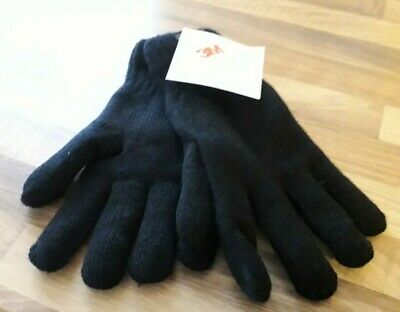 3M Thinsulate Mens Knitted Gloves Black Bnwt