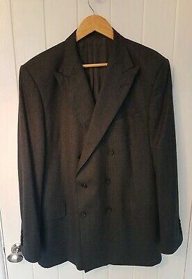 "Gieves & Hawkes Double Breasted Jacket 44"" L flannel wool style IMMACULATE"