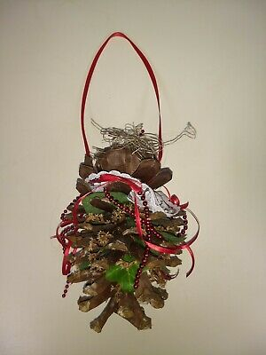 "6-1/2"" Medium Natural Pine Cone  Christmas Tree Decorations Xmas Party Home Dec"