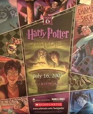 Harry Potter And The Half Blood Prince Book Release Poster 2005 Barnes & Noble