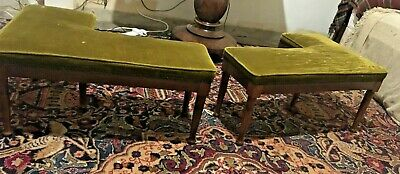 Antqiue Pair Of Edwardian Fender Stools