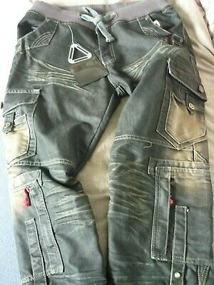 cru-10 jeans new tags denim 38L ZIPPED ZIPS BUTTONS HEAVY DUTY HIGH QUALITY