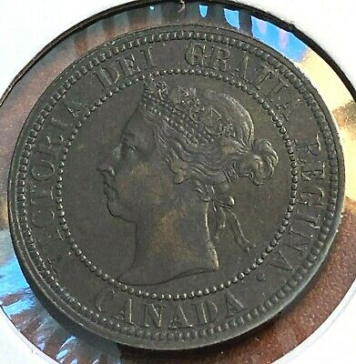 1890-H Canada Cent XF/AU Brown Beauty CHN