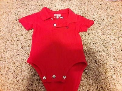 baby boy red 9 month collared short sleeve red Osh Kosh top