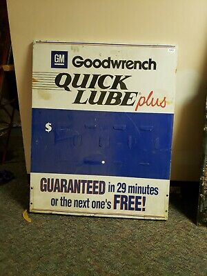 original goodwrench quick lube metal sign