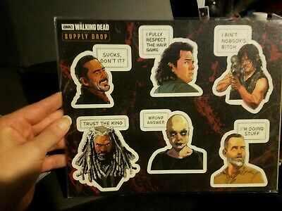 AMC The Walking Dead TWD Supply Drop Negan Alpha Mood stickers New