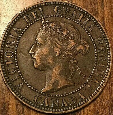 1896 Canada Large Cent Penny 1 Cent Great Example