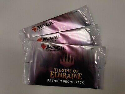 MTG Throne of Eldraine PREMIUM Promo Pack ALL FOIL CARDS Magic The Gathering