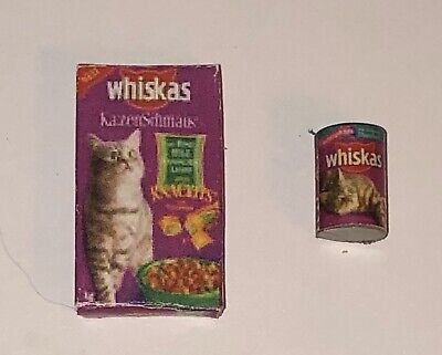 Dollhouse Miniature 3 Cat Food Cans Set Pet Kitten Animal 1:12