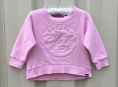 Baby Girls Ripcurl Size 0-1 Pink, Sweater ,Windcheater, Jumper Very Good Con.