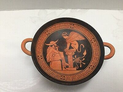 Ancient Greek Kylix 480 BC Ghroulias Museum Replica Vgt Art Pottery Wine Cup👀🔥
