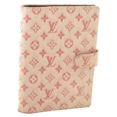 LOUIS VUITTON Monogram Mini Agenda PM Day Planner Cover Red R20912 LV Auth oh050