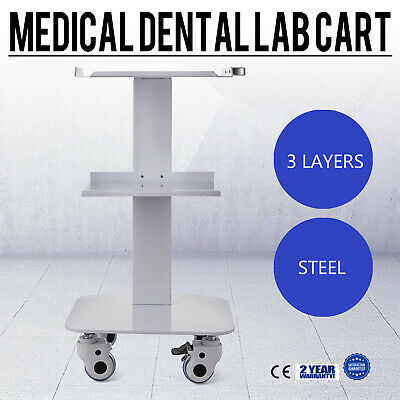 NEW Mobile Medical Steel Cart Trolley Doctor Dentist Trolly Spa Salon Equipment