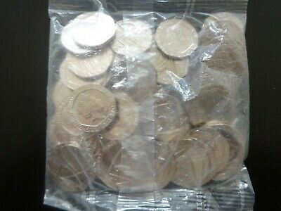 2016 uncirculated sealed bag  of 20p coins        (50 coins)