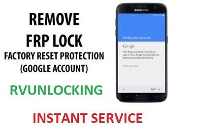 Samsung S8 /S9 Plus FRP Lock/Google Account Removal Instant Service