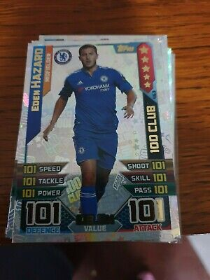 Match Attax 2015/16 No-463 Eden Hazard Hundred 100 Club 101/101
